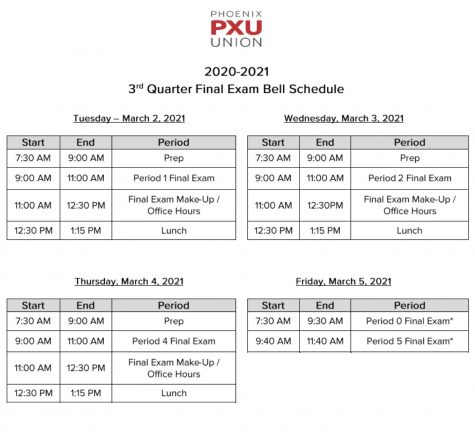 3rd Quarter Final Exam Bell Schedule